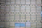 The texture of the brick facade of the new white brick. - 188514925