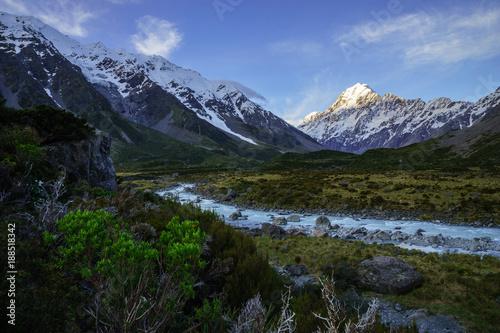 Fotobehang Bergrivier Mount Cook