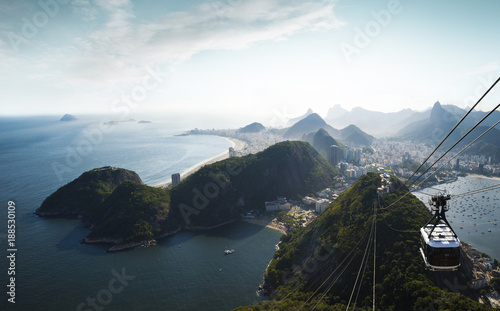 Panorama of Rio de Janeiro from Sugarloaf mountain, Brazil
