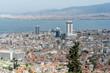 Panoramic view of the bay and city Izmir.