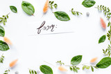 calligraphy floral pattern top view mock up - 188544567