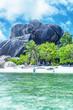 Tropical island beach on a sunny day