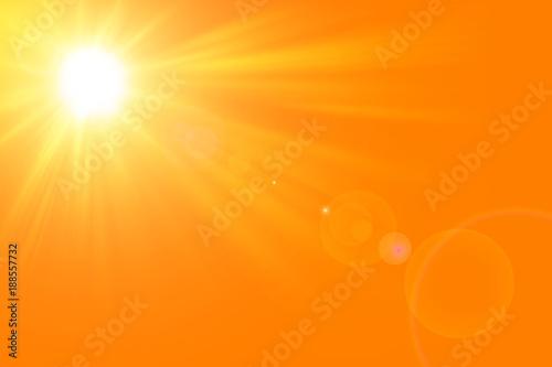 Foto Murales Sfondo astratto soleggiato di estate di natura con il sole splendente
