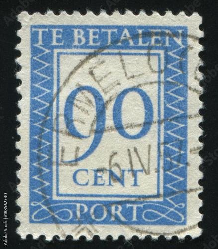 Foto Murales Netherlands retro stamp