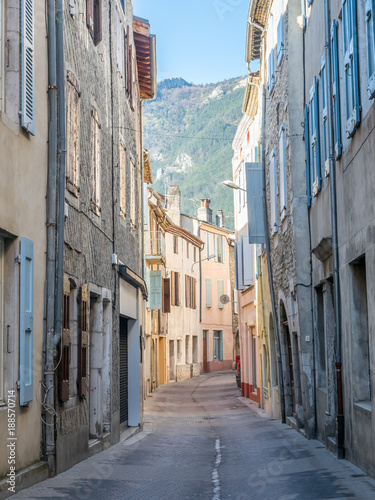Buildings and architecture in Die city, country small town in France - 188570714