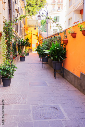 Foto op Canvas Purper street of Naples, Italy