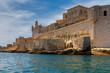 Quadro Valletta. The old harbor and port.