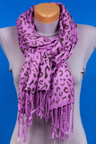 Lilac scarf on mannequin isolated on blue background. - 188586914