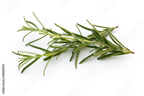 Foto Murales Rosemary isolated on white background, Top view.