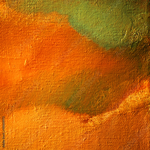 Papiers peints Orange eclat abstract landscape with oil on a texture canvas, illustration