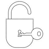 safe secure padlock with key vector illustration design - 188619516