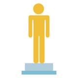 male human figure silhouette vector illustration design - 188620110