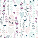 Vector seamless floral pattern - 188636332
