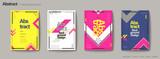 Fototapety Geometric style brochure set