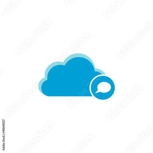 Cloud computing icon, bubble icon - 188648127