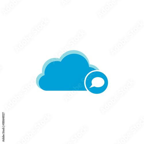 Cloud computing icon, bubble icon - 188648127