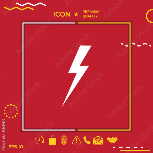 Thunderstorm lightning icon
