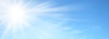 Sole splendente nel cielo azzurro  - 188665160
