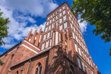 Tower of St James Cathedral, located in the old part of Olsztyn, Poland