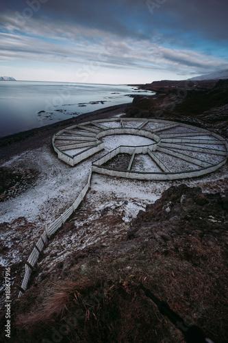 Foto op Canvas Grijze traf. Island | Nordisland