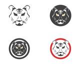 Tiger head logo design template