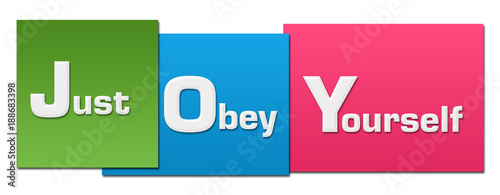 JOY - Just Obey Yourself Colorful Stripes