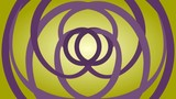 Slow rotation of two purple circles as an optical illusion