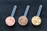 Scoops with protein powder - 188694701
