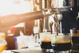 Coffee Machine Pouring Espresso Coffee