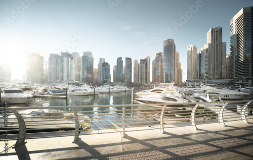 Papiers peints Dubai Dubai Marina at sunset, United Arab Emirates