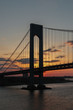 The Verrazano-Narrows Bridge, taken at sunrise on a early sailing