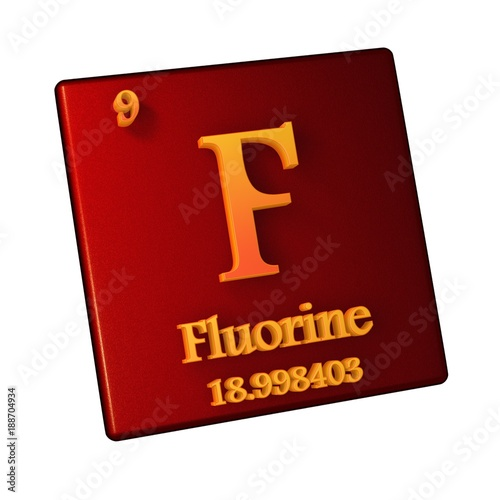 Fluorine Chemical Element Number 9 Of The Periodic Table Of The