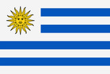 Uruguay Flag Vector Flat Icon - 188708356
