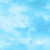 bright blue watercolor texture background, hand painted - 188713578
