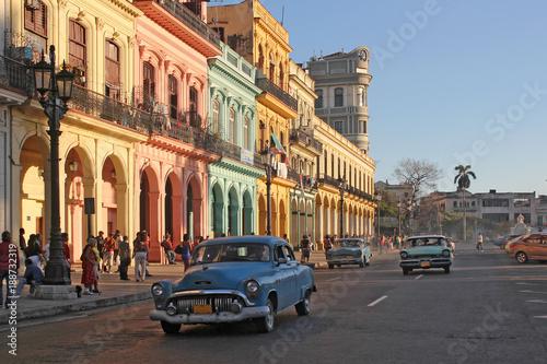 Tuinposter Havana Paseo de Marti, Havanna, Altstadt, Kuba