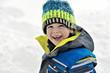 Cute boy in winter season