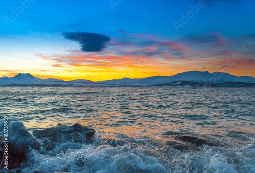 Coast of the Norwegian Sea.Tromso . - 188739989