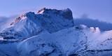 Bure Peak (Pic de Bure) in the Devoluy Mountain range at dusk in Winter. Hautes-Alpes, French Alps, France - 188743112