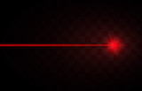 Abstract red laser beams. Isolated on transparent black background. Vector illustration, eps 10 - 188743133