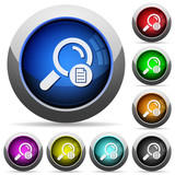 Search details round glossy buttons - 188759317