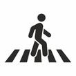 Pedestrian, crosswalk icon