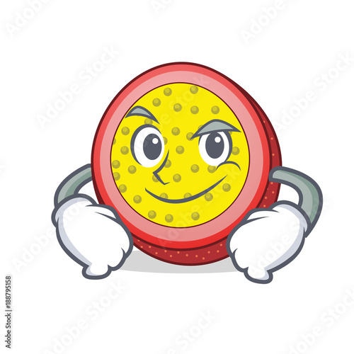 Smirking passion fruit character cartoon - 188795158
