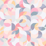 Abstract vector colorful geometric harmonic wave background - 188799155