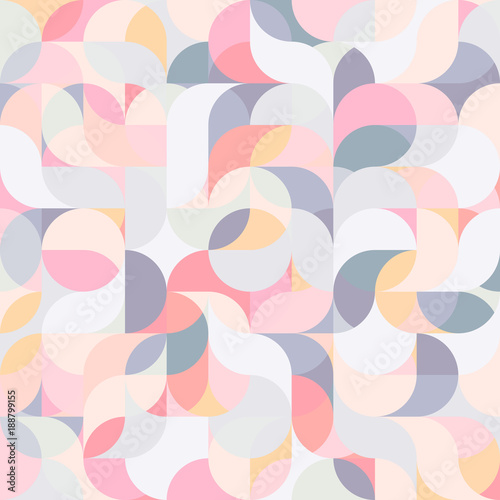 Cotton fabric Abstract vector colorful geometric harmonic wave background