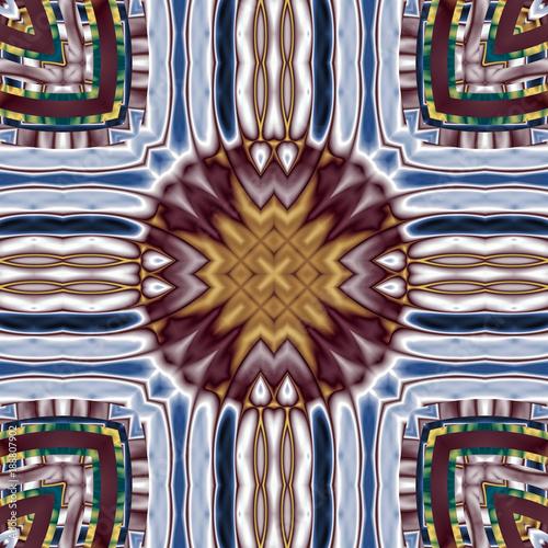 abstrakt fraktal symmetrisch illustration  - 188807902