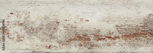 Leinwandbild Motiv Alte Ziegelmauer