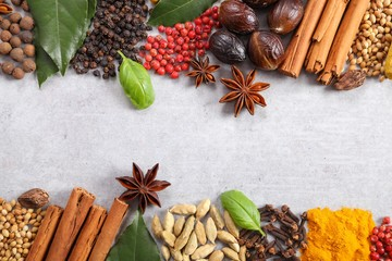Aromatic Indian spices.