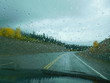 A rainy day drive up the Klondike Highway in British Columbia, Canada.