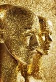 Two pieces of human golden scupltures - 188847998