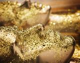 Two pieces of human golden scupltures - 188848123